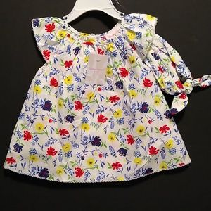 Tommy Bahama Baby Dress and Headband Outfit NEW